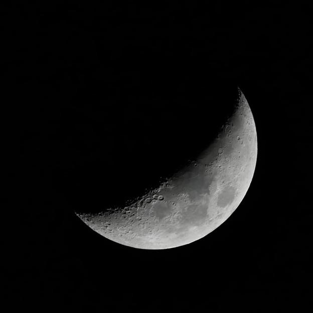 写真: 月齢5.4の月