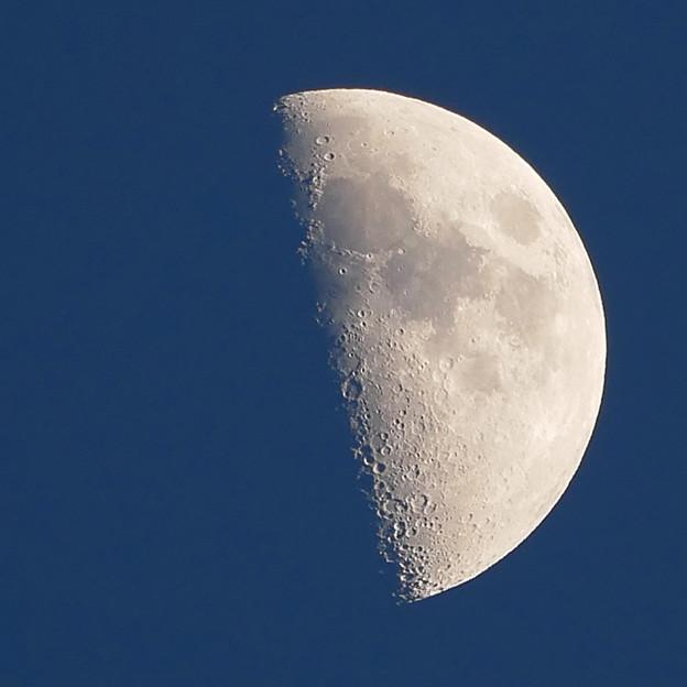 日没時の月面V、X、L