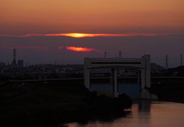 写真: 朝霞水門夕景4