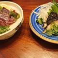 Photos: 藁焼きひとくち鰹たたき(塩ポン酢)とうつぼのたたき