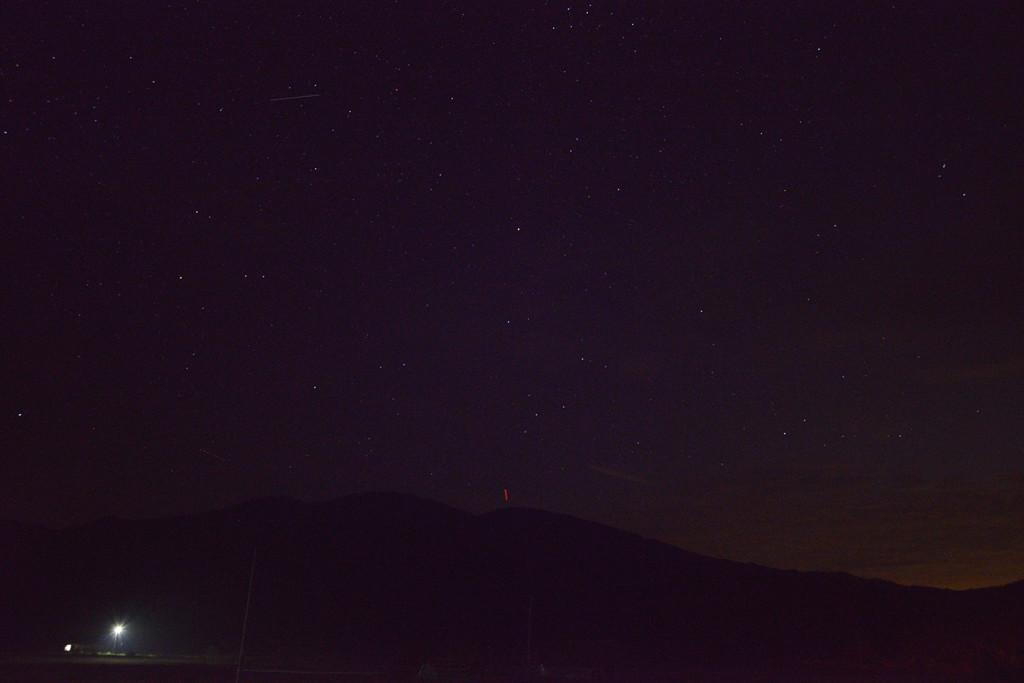 夜には満天の星