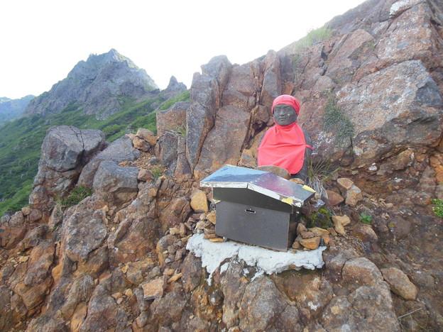 夏登山 赤岳6 お地蔵さん