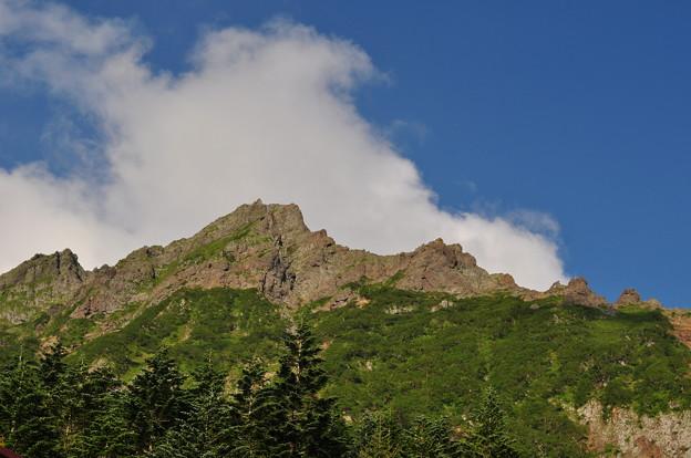夏登山 赤岳11 青空