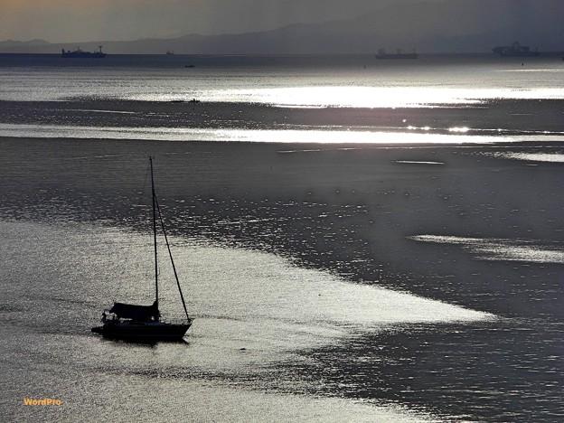 マニラ湾光る海