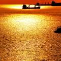 マニラ湾海の夕焼け