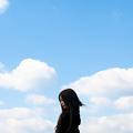 写真: 青い空白い雲