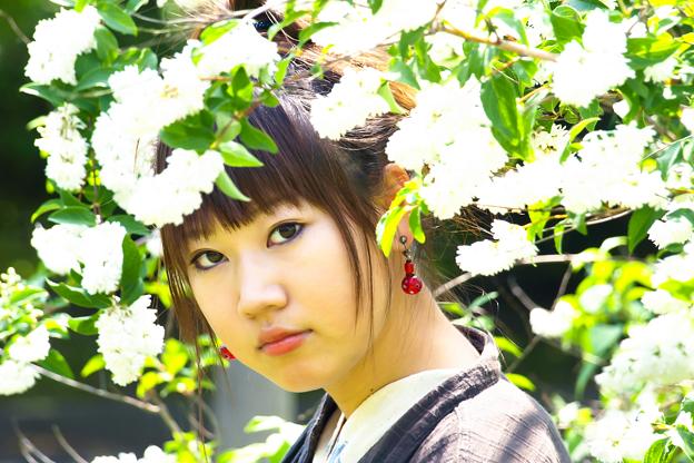 六月の花飾り