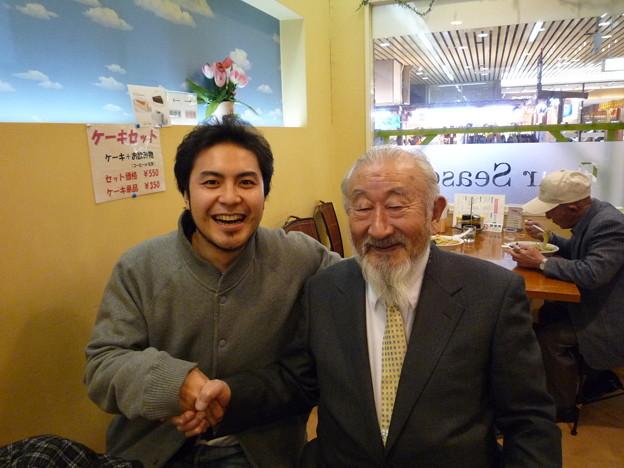 湯沢駅で電車待ちの近藤先生と初対面