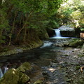 写真: へび滝を望む