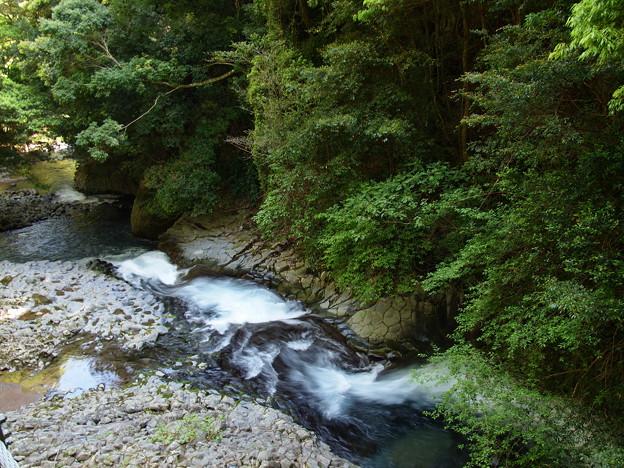 写真: へび滝を見下ろす…