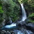 写真: 玄武岩と釜滝(かなだる)