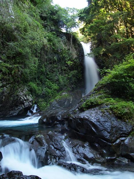写真: 釜滝の流れ
