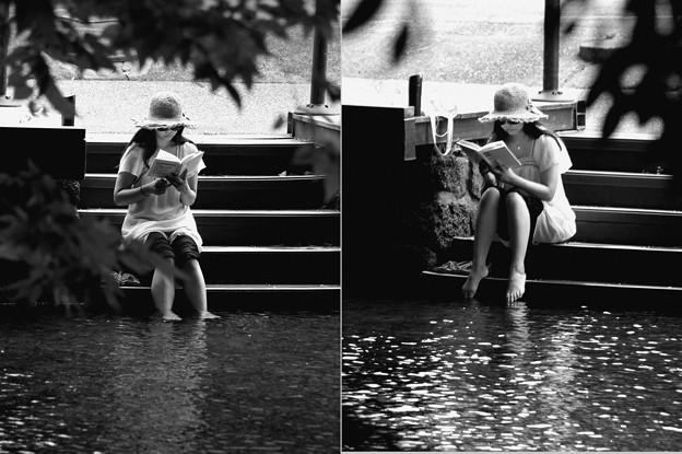 水辺で読書 type-b