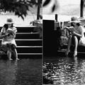写真: 水辺で読書 type-b