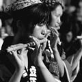 Photos: 笛吹けど…踊らなきゃね^^;