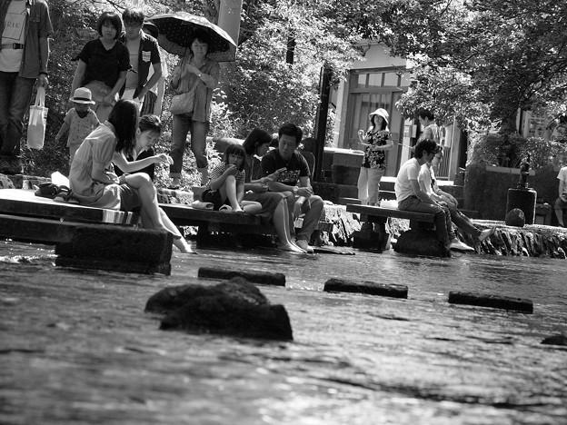 Photos: 夏を惜しむ人たち
