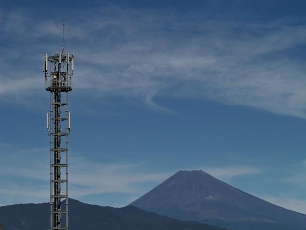 基地局と富士の御山