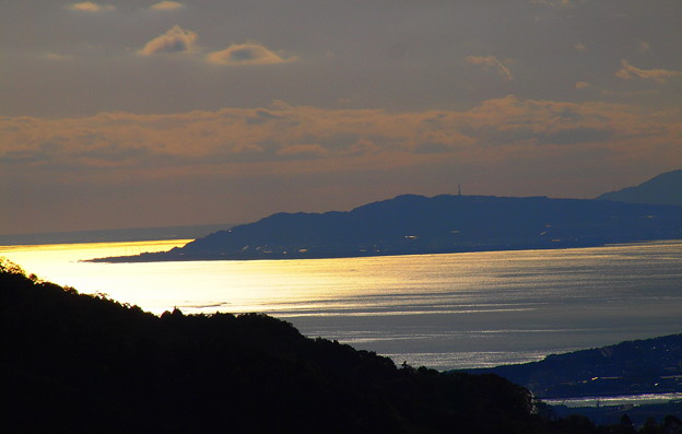駿河湾の夕暮れ