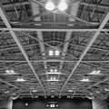 Photos: 体育館は閑散と…