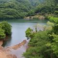 奥野ダムの湖畔は…