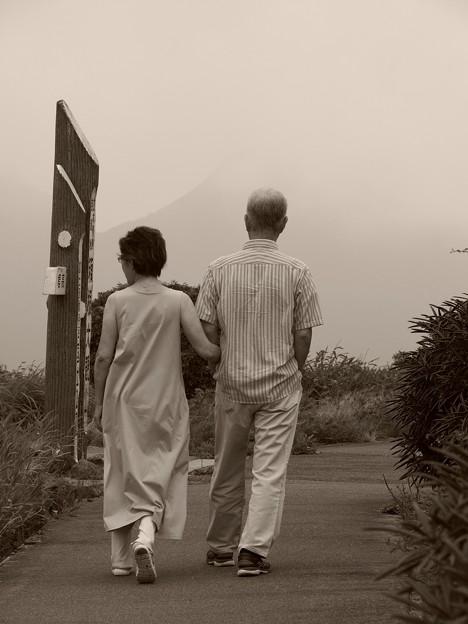二人で歩む大観山