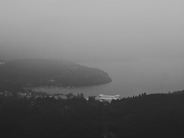 Photos: 霧の芦ノ湖