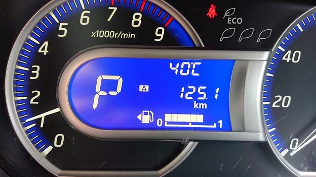 クルマの外は40℃