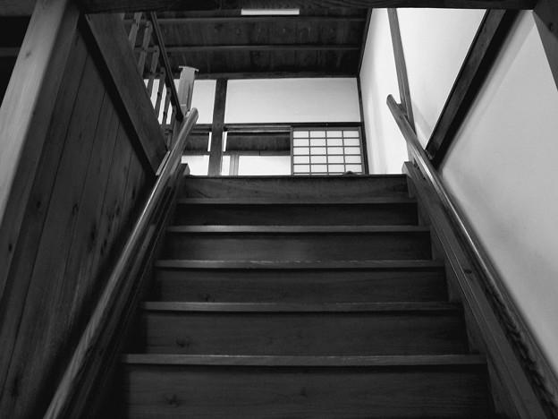 この階段を登って…