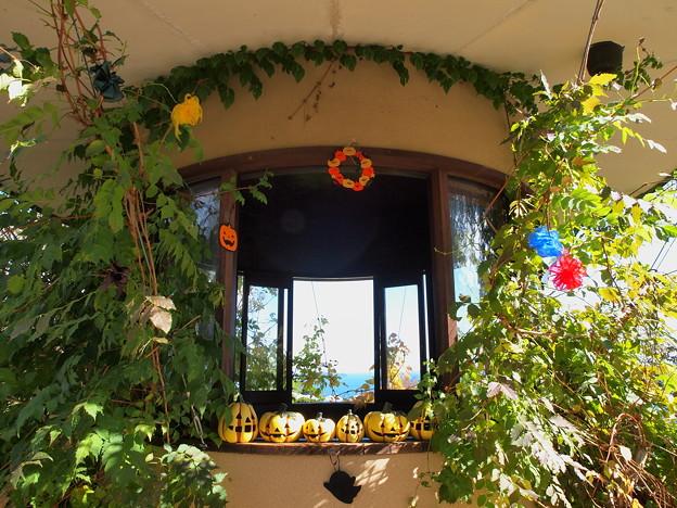 ガーデンのハロウィンな装飾