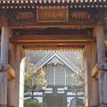 Photos: 晩秋の山寺、朝陽を浴びる
