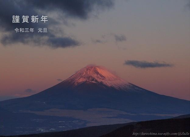 朝焼け富士のお山