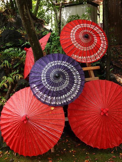 クルクル和傘はお子ちゃま用?