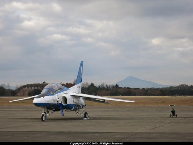 筑波山とブル-インパルス