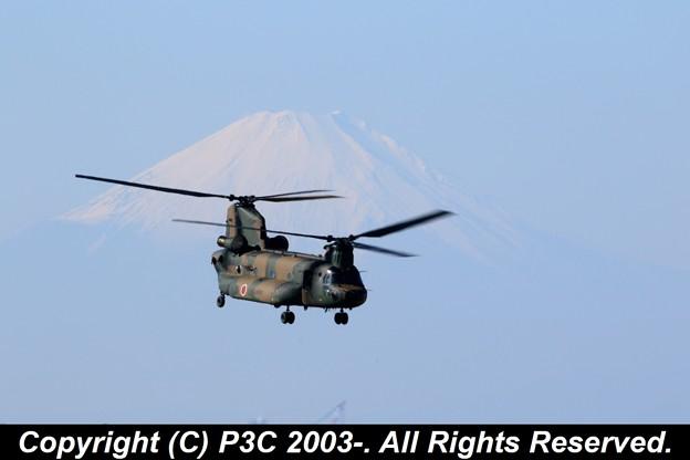 CH47Jと富士山