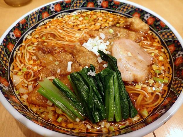 酸辣麺・辛さ普通+排骨@寿限無 担々麺・中央区人形町