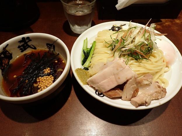 山葵と蒸鶏の冷しつけ麺・300g@武仁・千代田区秋葉原