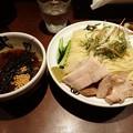 写真: 山葵と蒸鶏の冷しつけ麺・300g@武仁・千代田区秋葉原
