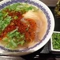 蘭州牛肉面・細麺+パクチー大盛@馬子禄 牛肉面・千代田区神保町