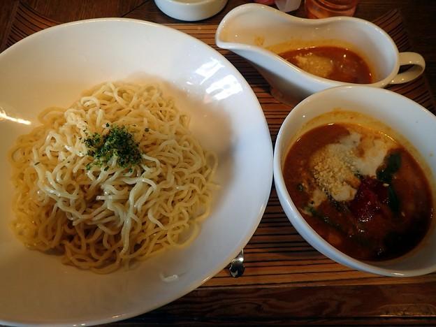 カレーつけ麺+1辛@華麺・倉敷市