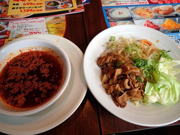 広島流肉盛り辛つけ麺@バーミヤン津山昭和店・津山市