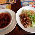 Photos: 広島流肉盛り辛つけ麺@バーミヤン津山昭和店・津山市