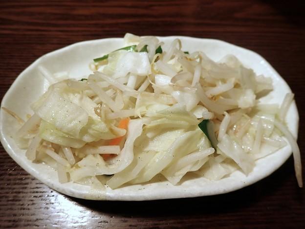 お通しのタンメン野菜@來々軒・江東区木場