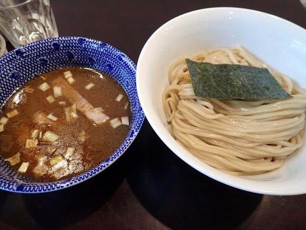 ゆず香塩つけ麺・並盛@麦の香・新宿区早稲田