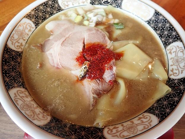 すごい煮干ラーメン・太麺・並盛@凪浅草店・台東区浅草