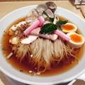 3種貝の特製冷やしSOBA@むぎとオリーブ日本橋店・中央区三越前