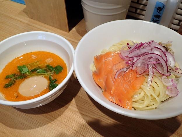 鮭味噌つけ麺~西京味噌仕立て~+味玉@ビリケン・台東区浅草