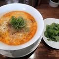 Photos: 担担麺+パクチー@鳴龍・豊島区新大塚