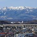 Photos: 那須連峰と東北新幹線