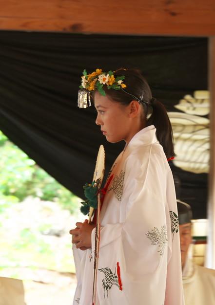 玉若酢命神社御霊会風流(8)浦安の舞(2)