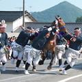 玉若酢命神社風流(13)馬場への馬入れ神事・東郷馬